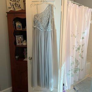 Off the shoulder formal dress